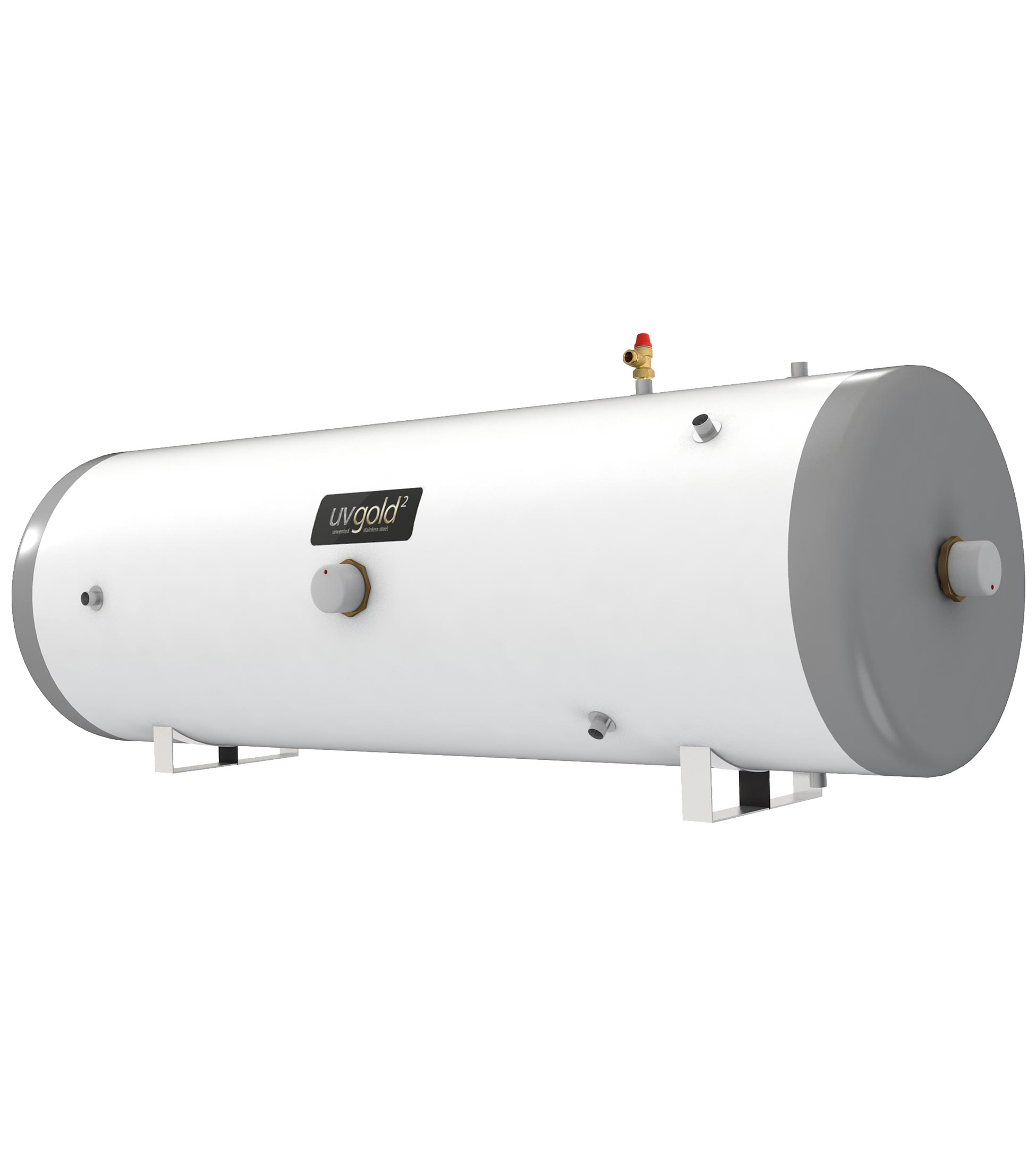 UVgold 2 - Stainless 180L Horizontal Indirect Unvented Hot Water ...
